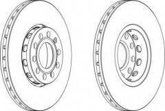 Комплект передних тормозных дисков FERODO DDF1706 (2 шт.)