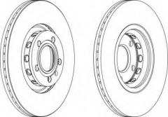 Комплект передних тормозных дисков FERODO DDF1707 (2 шт.)