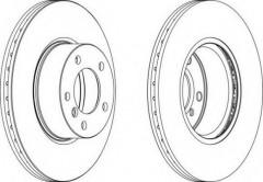 Комплект передних тормозных дисков FERODO DDF1717 (2 шт.)
