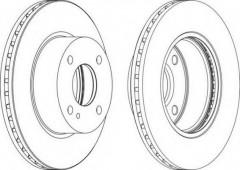 Комплект передних тормозных дисков FERODO DDF1740 (2 шт.)
