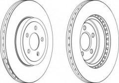 Комплект передних тормозных дисков FERODO DDF1765 (2 шт.)