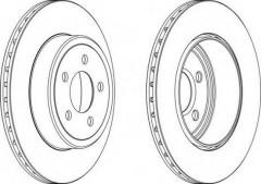 Комплект задних тормозных дисков FERODO DDF1766 (2 шт.)