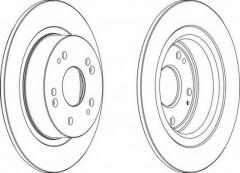 Комплект задних тормозных дисков FERODO DDF1776 (2 шт.)