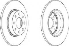 Комплект передних тормозных дисков FERODO DDF1784 (2 шт.)