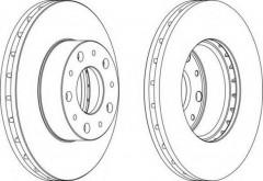 Комплект передних тормозных дисков FERODO DDF1800 (2 шт.)