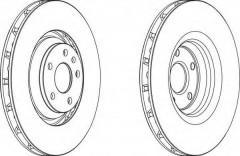Комплект передних тормозных дисков FERODO DDF1847C (2 шт.)