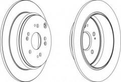 Комплект задних тормозных дисков FERODO DDF1860 (2 шт.)
