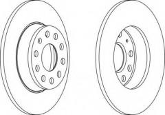 Комплект задних тормозных дисков FERODO DDF1895 (2 шт.)