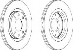 Комплект передних тормозных дисков FERODO DDF192 (2 шт.)