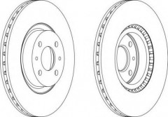 Комплект передних тормозных дисков FERODO DDF220 (2 шт.)