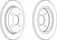 Комплект задних тормозных дисков FERODO DDF281 (2 шт.)