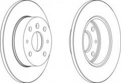 Комплект передних тормозных дисков FERODO DDF755 (2 шт.)