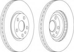 Комплект передних тормозных дисков FERODO DDF760 (2 шт.)