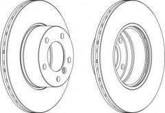 Комплект передних тормозных дисков FERODO DDF834 (2 шт.)