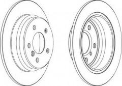 Комплект задних тормозных дисков FERODO DDF835 (2 шт.)