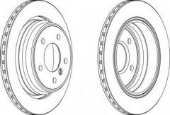 Комплект задних тормозных дисков FERODO DDF836 (2 шт.)