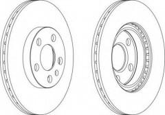Комплект передних тормозных дисков FERODO DDF842 (2 шт.)