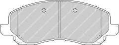 Тормозные колодки передние FERODO FDB1621, дисковые