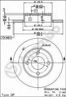 Комплект тормозных дисков BREMBO 08.2794.14 (2 шт.)