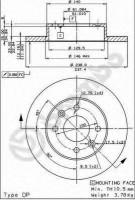 Комплект тормозных дисков BREMBO 08.2958.14 (2 шт.)