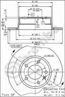 Комплект тормозных дисков BREMBO 08.5440.10 (2 шт.)
