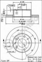 Комплект тормозных дисков BREMBO 08.5905.14 (2 шт.)