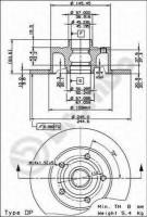 Комплект тормозных дисков BREMBO 08.6911.14 (2 шт.)