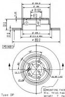 Комплект тормозных дисков BREMBO 08.7019.80 (2 шт.)