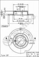Комплект тормозных дисков BREMBO 08.7165.14 (2 шт.)