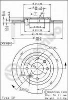 Комплект тормозных дисков BREMBO 08.7238.10 (2 шт.)