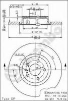 Комплект тормозных дисков BREMBO 08.7354.10 (2 шт.)