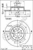 Комплект тормозных дисков BREMBO 08.7861.10 (2 шт.)