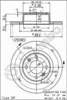Комплект тормозных дисков BREMBO 08.8727.10 (2 шт.)