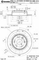 Комплект тормозных дисков BREMBO 08.8868.20 (2 шт.)
