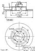 Комплект тормозных дисков BREMBO 08.9364.10 (2 шт.)