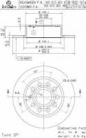 Комплект тормозных дисков BREMBO 08.9502.10 (2 шт.)