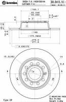 Комплект тормозных дисков BREMBO 08.B413.11 (2 шт.)