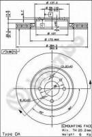 Комплект тормозных дисков BREMBO 09.4939.14 (2 шт.)
