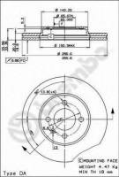 Комплект тормозных дисков BREMBO 09.5166.14 (2 шт.)