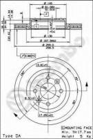Комплект тормозных дисков BREMBO 09.5802.24 (2 шт.)