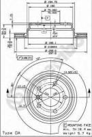 Комплект тормозных дисков BREMBO 09.6841.11 (2 шт.)
