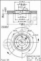 Комплект тормозных дисков BREMBO 09.7877.10 (2 шт.)
