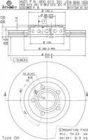 Комплект тормозных дисков BREMBO 09.8690.11 (2 шт.)