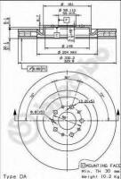 Комплект тормозных дисков BREMBO 09.8933.11 (2 шт.)