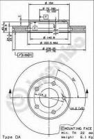 Комплект тормозных дисков BREMBO 09.8953.10 (2 шт.)