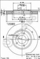 Комплект тормозных дисков BREMBO 09.8977.10 (2 шт.)