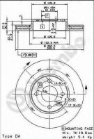 Комплект тормозных дисков BREMBO 09.9078.10 (2 шт.)
