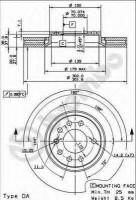 Комплект тормозных дисков BREMBO 09.9162.14 (2 шт.)
