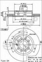 Комплект тормозных дисков BREMBO 09.9167.11 (2 шт.)