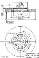 Комплект тормозных дисков BREMBO 09.9363.10 (2 шт.)
